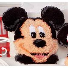 Latch hook shaped cushion kit Disney Mickey Mouse