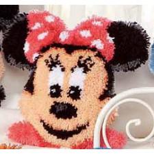 Latch hook shaped cushion kit Disney Minnie Mouse