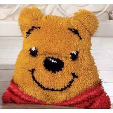 Latch hook shaped cushion kit Disney Winnie