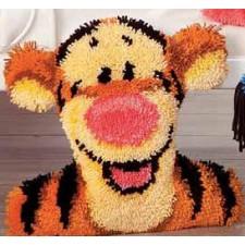 Latch hook shaped cushion kit Disney Tigger