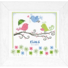 Counted cross stitch kit Colorful birds