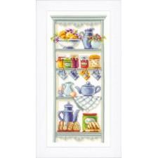 Counted cross stitch kit Romantic kitchen shelf