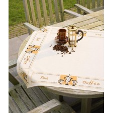 (OP=OP) Aida tablecloth kit Tea and coffee