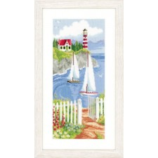 (OP=OP) Counted cross stitch kit Sailboats in a bay