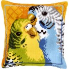 Cross stitch cushion kit Badgies