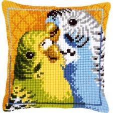 Cross stitch cushion kit Badgies