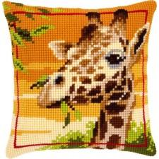 Cross stitch cushion kit Giraffe