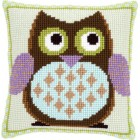 Cross stitch cushion kit Mister owl