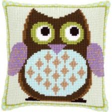 Cross stitch cushion kit Mister owl