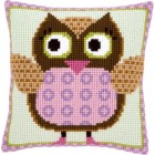 Cross stitch cushion kit Miss owl