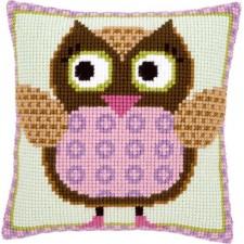 Cross stitch cushion kit Miss owl