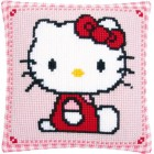 Cross stitch cushion kit Hello Kitty