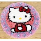 Latch hook shaped rug kit Hello Kitty