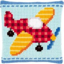 (OP=OP) Cross stitch cushion kit Little plane