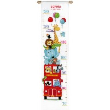 Counted cross stitch kit Funny bus