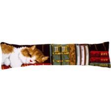Cross stitch draft stopper kit Cat sleeping