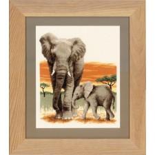 Counted cross stitch kit Elephant's journey