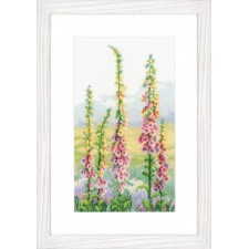 (OP=OP) Counted cross stitch kit Foxgloves at dawn