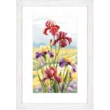 (OP=OP) Counted cross stitch kit Irises at dawn