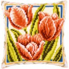 (OP=OP) Cross stitch cushion kit Tulips