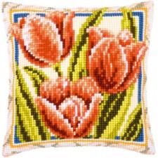 (OP=OP) Cross stitch cushion kit Tulips