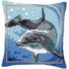 Cross stitch cushion kit Dolphin