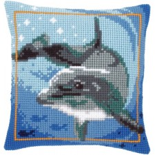 Cross stitch cushion kit Dolphin