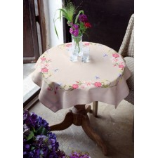 Tablecloth kit Pink flowers and butterflies