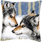 Cross stitch cushion kit Wolves