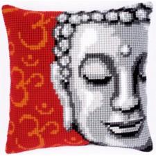 Cross stitch cushion kit Buddha