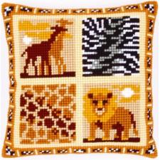 (OP=OP) Cross stitch cushion kit Safari I
