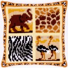 (OP=OP) Cross stitch cushion kit Safari II