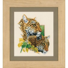 Counted cross stitch kit Leopard couple