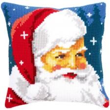 Cross stitch cushion kit Kind Santa
