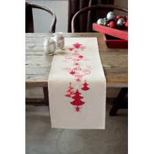 Table runner kit Red Christmas decorations