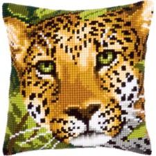 Cross stitch cushion kit Leopard