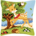 (OP=OP) Cross stitch cushion kit Friends from the forest