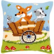 (OP=OP) Cross stitch cushion kit Forest friends in cart