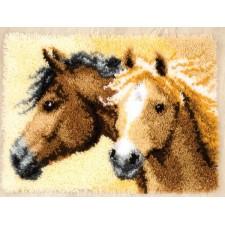 Latch hook rug kit Impetuous horses