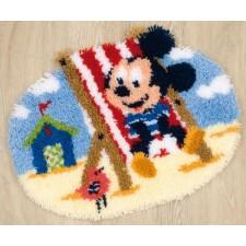(OP=OP) Knoopkleed Mickey Mouse aan het strand
