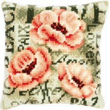 Cross stitch cushion kit Poppies