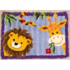 Latch hook rug kit Jungle friends