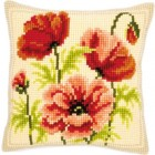 Cross stitch cushion kit Wild poppies