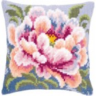 Cross stitch cushion kit Camellia