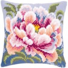Cross stitch cushion kit Camellia