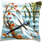 Cross stitch cushion kit Dragonfly