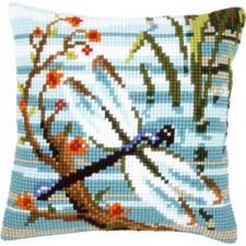 Cross stitch cushion kit Dragonfly