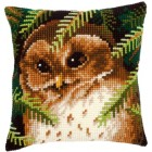 Cross stitch cushion kit Owl