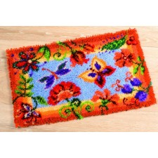 Latch hook rug kit Decorative flowers