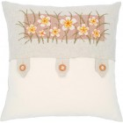 (OP=OP) Counted cross stitch cushion kit Vanilla flowers